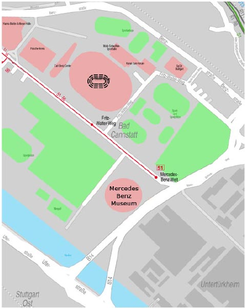 Daimler Untertürkheim Werksplan